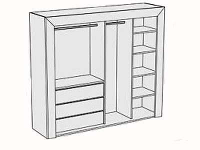 стандартная комплектация шкафа