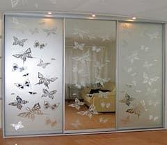 Варианты дизайнов пескоструйного напыления для зеркал