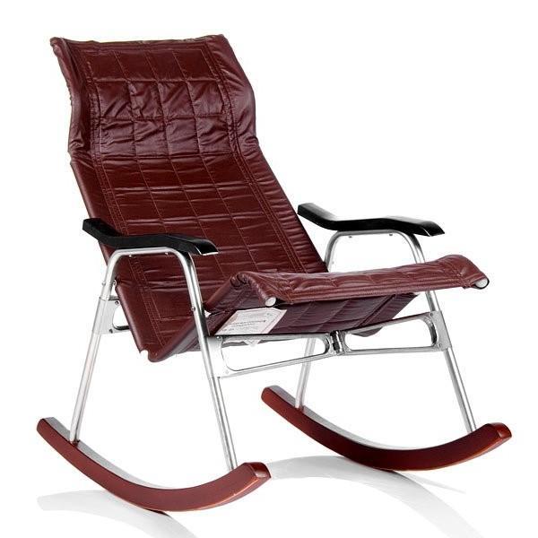 Кресло-качалка складная Белтех, коричневая