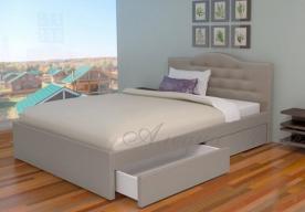 Кровать с мягким изголовьем Лора