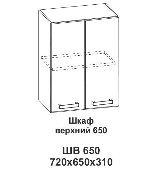 Шкаф верхний 650 Крафт, дуб вотан