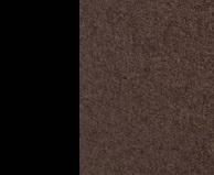 Металл Чёрный / Ткань Рогожка Кофе