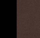 Металл Чёрный / Ткань Рогожка Коричневый
