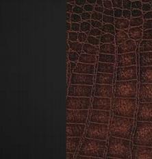 Берёзовая фанера, покрыта эмалью Венге / Экокожа Antik crocodile