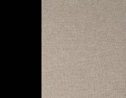 Металл Чёрный / Ткань Рогожка Бежевый