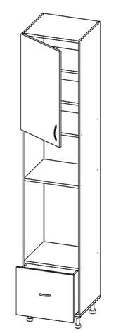Шкаф под духовку и микроволновку Т-2892 (серия Хай-Тек)