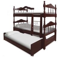 Детская кровать из массива 3-х ярусная  Альбион