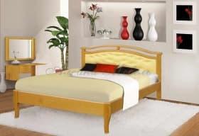 Кровать Ария с кожей