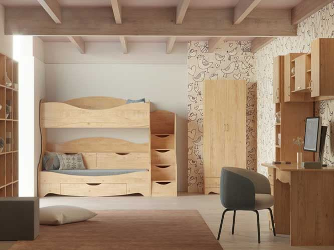 Детская комната Карамель (комплект 3)
