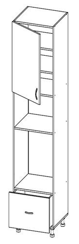 Шкаф под духовку и микроволновку Т-2892 (серия Хай-Тек Бриз)