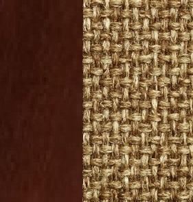 Берёзовая фанера, покрыта эмалью Орех / Ткань Рогожка Malta 17