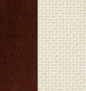 Берёзовая фанера, покрыта эмалью Орех / Ткань Рогожка Malta 01 А