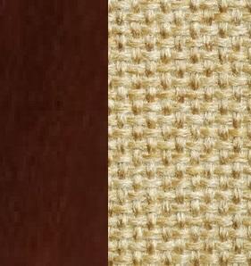 Берёзовая фанера, покрыта эмалью Орех / Ткань Рогожка Malta 03 А