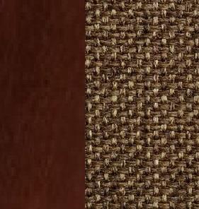 Берёзовая фанера, покрыта эмалью Орех / Ткань Рогожка Malta 15 А
